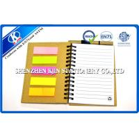Buy cheap A6 Brown Kraft Paper Notebook Recycled With Memo , offset printing from wholesalers