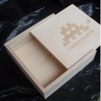 Buy cheap Wooden Chocolate box, candy box, slide lid box made in Paulownia wood, lasered logo from wholesalers