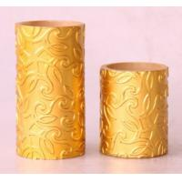 Buy cheap DFL-W14084  Gold w/set oriental blossom flameless candle from wholesalers