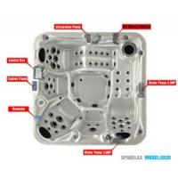 Buy cheap Outdoor Massage Whirlpool SPA with Graceful Shape product