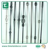 Buy cheap 1/2 , 5/8 , 3/4  Wrought iron stair baluster  steel picket China manufacturer from wholesalers