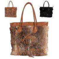 Buy cheap Top Quality Womens Rabbit Fur and Faux Leahter Tote Bag from wholesalers