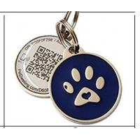 Buy cheap Various Color Round Shape Stainless Steel Pet Id Tags Custom Metal Logo Anti - Bite Structure from wholesalers