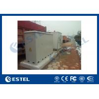 Buy cheap 3 Compartments Outdoor Integrated Base Station Cabinet For Installation Equipment And Battery from wholesalers
