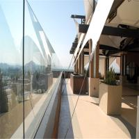 China Modern Exterior Aluminum U base channel tempered glass railing on sale