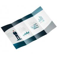 Buy cheap Foldable Business Card Printing , A5 Leaflet Printing Art Paper Full Color from wholesalers