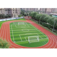 Buy cheap 60mm Fire Resistant Synthetic Fake Grass For School Project product