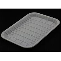 Buy cheap Recyclable Lunch PP Food Tray White And Black Color Custom Printing For Fruit Shop product