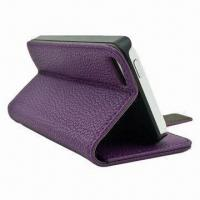 Buy cheap Leather Cover for iPhone 5 with Stand from wholesalers