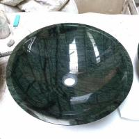 Buy cheap High Quality Green Marble Stone Wash Basin Beautiful natural Green marble stone bathroom basins and stone sinks from wholesalers