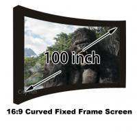 Buy cheap Quality Assurance Cinema Projector Screens 100 Inch DIY Curved Fixed Frame Wall Mounted from wholesalers