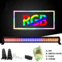Buy cheap Color mixing!!! high power RGB curve double row led light bars three color red gold white for choose light bars fast del from wholesalers