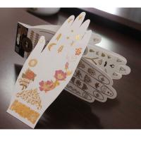 Buy cheap Hot sale custom gold temporary tattoos from wholesalers