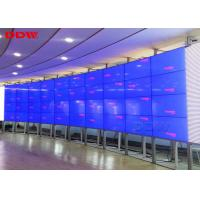 Buy cheap 55 inch LED curved videowall Samsung lcd display wall 3.5mm super narrow bezel 1080p resolution from wholesalers