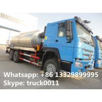 Buy cheap Good price factory direct sale 10 to 15 cbm HOWO 6*4 asphalst spraying truck, bitumen distributing truck for sale from wholesalers