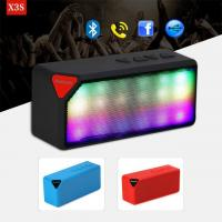 Buy cheap Colorful LED lights ABS Material Mini X3 Wireless Bluetooth Speaker Luminous Audio from wholesalers