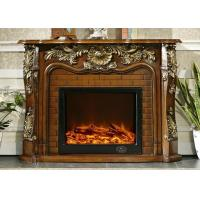 Buy cheap Free Standing Classic Flame Electric Fireplace , RV Antique Fireplace Surround from wholesalers