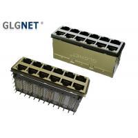 Buy cheap Side Enter Stacked Rj45 Ethernet Jack 10G Base T Transformer EMI Gasket product