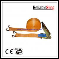 Buy cheap Green Yellow  Orange U hook Ratchet Tie Down Strap for vehicle , motorbike from wholesalers