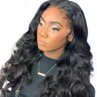 Buy cheap 8 Full Lace Human Hair Wigs For Black Women / Transparent Body Wave Lace Wig from wholesalers