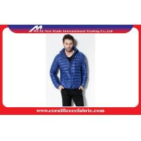 Buy cheap Fashion Nylon Lightweight Puffer Hoodie Down Jacket for Men , Blue / Black from wholesalers