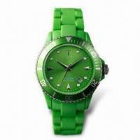 Buy cheap Fashionable Quartz Wristwatch with Japanese Movement, Plastic Case, Customized Designs are Available product