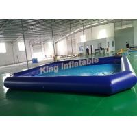 Buy cheap Outdoor Giant Inflatable Water Parks Square Inflatable Swimming Pool Size 10m X 8m from Wholesalers