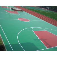 Buy cheap Synthetic Outdoor Rubber Flooring, Workout Room FlooringWith Marking Line from wholesalers