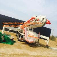 Buy cheap 37m Boom Type Concrete Pump Truck Concrete Boom Cement Pump Truck 37.4M Reach Height from wholesalers