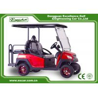 Buy cheap 4 Seater Red Electric Golf Carts Self - Adjusting Rack Trojan Batteries Golf Cart from wholesalers