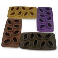 Buy cheap 8 Cavity Custom Silicone Molds Food Grade , Ice Cube Mould Coffee Bean Shaped from wholesalers