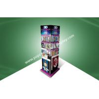 Buy cheap Four Face Show Cardboard Floor Standing Display Units To Show 3D Poster Cards from wholesalers