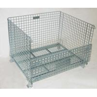 Buy cheap Welded Steel Wire Container Storage Cages Butterfly Wire Mesh Pallet Cages from wholesalers