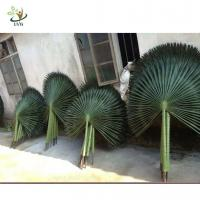 Buy cheap UVG semicircle palm tree artificial leaf in silk leaves for indoor watertown landscaping from wholesalers