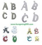 Buy cheap Rhinestone Letter Pendant,Alphabet Pendant,DIY Letters from wholesalers
