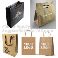 Buy cheap Customized Red Printed Kraft Paper Shopping Bag with Ribbon Handles and Bowknot,Kraft Paper Shopping Bag with Kinds off from wholesalers
