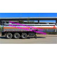 Buy cheap Carbon Steel 20m3 Concentrated Sulfuric Acid Tank Trailer / Hydrochloric Acid Tank Trucks from wholesalers