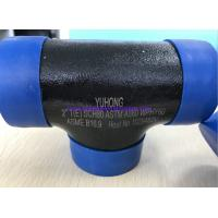 Buy cheap ASTM A860 WPHY60 / 42 / 52 / 65 / 70/ 80 TEE , ELBOW 2 SCH80 BW ASME B16.9 Black Surface OR Color Coating from wholesalers