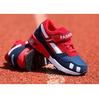 Buy cheap Suede Leather Kids Sports Shoes , Little Boys Running Shoes With Magic Strap from wholesalers