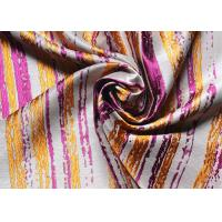 Buy cheap Dresses Striped Jacquard Woven Fabric High End Organza Purple from wholesalers