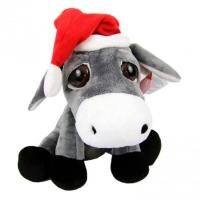 Buy cheap 18cm Plush Sitting Christmas Big Eyes Donkey Stl366 from wholesalers