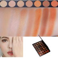 Buy cheap Neutral Eye Makeup Eyeshadow High Pigment Autumn Orange Toned Eyeshadow Palette product