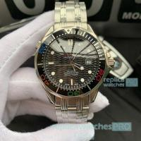 Buy cheap Omega Seamaster James Bond Watch Stainless Steel Colorful Bezel from wholesalers