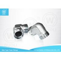 China Carbon Steel Bite Type Hydraulic Hose Compression Fittings 90 Degree Elbow on sale