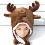 Buy cheap Custom Cartoon Elk Plush Hat from wholesalers