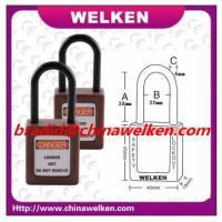Buy cheap Factory Used ABS Insulation, Anti-magnetism,Explosion-proof Nylon shackle Safety Padlock from wholesalers