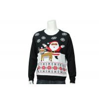 Buy cheap Home Christmas Features Patterns Knitted Funny Xmas Sweater In Customized Size from wholesalers