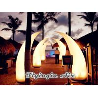 Quality Hot 2m Crooked Inflatable Light Cone for Party Supplies and Outdoor Decoration for sale