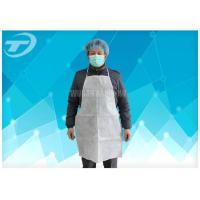 Buy cheap High Density Polyethylene Waterproof Aprons For Adults White Color 80 X 140 Cm from wholesalers