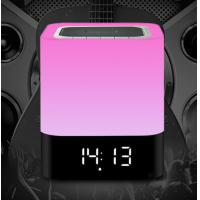 Buy cheap bluetooth speaker with RGB light and clock from wholesalers